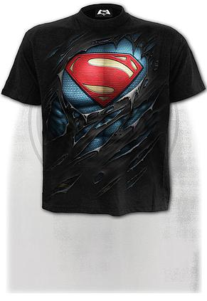 SUPERMAN - RIPPED - T-Shirt Black