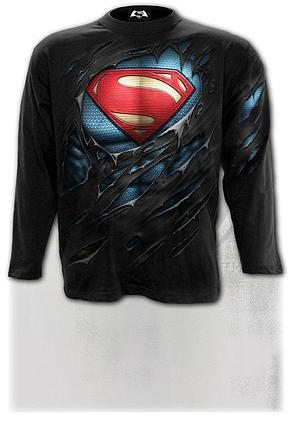 SUPERMAN - RIPPED - Longsleeve T-Shirt Black