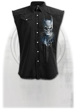 BATMAN - NOCTURNAL - Sleeveless Stone Washed Worker Black