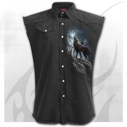FROM DARKNESS - Sleeveless Stone Washed Worker Black