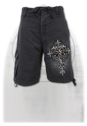 CUSTODIAN - Vintage Cargo Shorts Black
