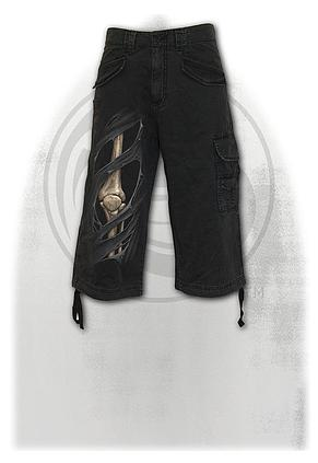 BONE RIPS - Vintage Cargo Shorts 3/4 Long Black