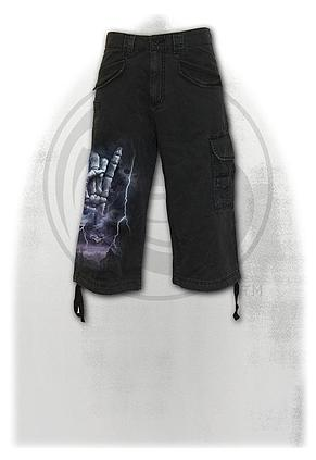 ROCK ETERNAL - Vintage Cargo Shorts 3/4 Long Black