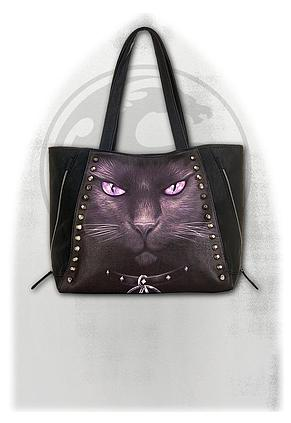 BLACK CAT - Tote Bag - Top quality PU Leather Studded