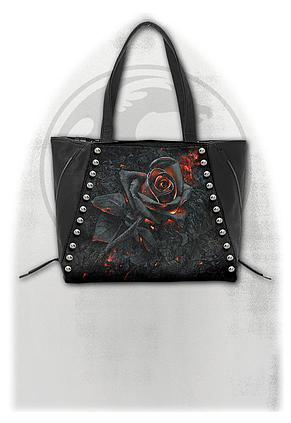 BURNT ROSE - Tote Bag - Top quality PU Leather Studded