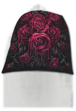 BLOOD ROSE - Light Cotton Beanies Black