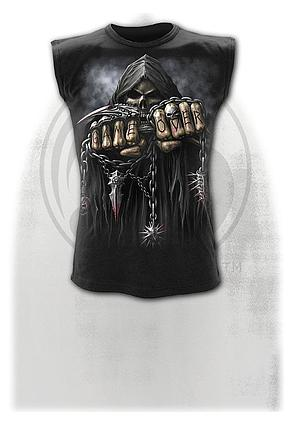GAME OVER - Sleeveless T-Shirt Black