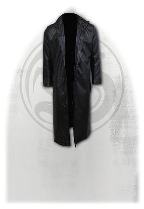 WOLF CHI - Gothic Trench Coat PU-Leather with Full Zip