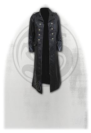 FATAL ATTRACTION - Gothic Trench Coat PU-Leather Corset Back