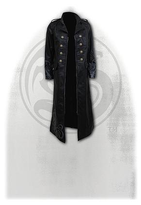 JUST TRIBAL - Gothic Trench Coat PU-Leather Corset Back