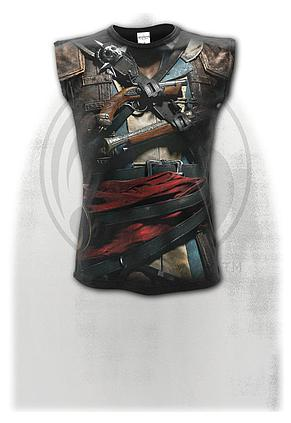 ASSASSINS CREED IV BLACK FLAG - Allover Sleeveless T-Shirt Black