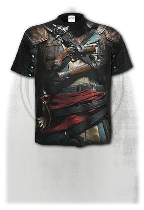 ASSASSINS CREED IV BLACK FLAG - Allover T-Shirt Black
