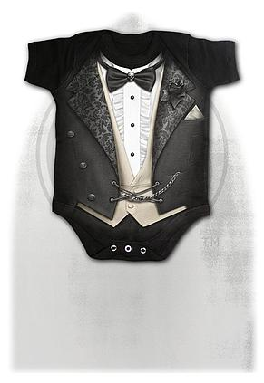 TUXED - Baby Sleepsuit Black