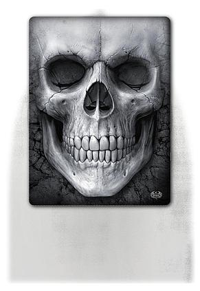SOLEMN SKULL - Fleece Blanket with Double Sided Print