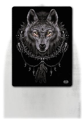 WOLF DREAMS - Fleece Blanket with Double Sided Print