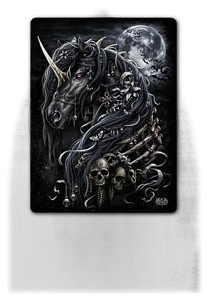 DARK UNICORN - Fleece Blanket with Double Sided Print