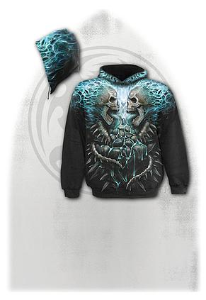 FLAMING SPINE - Allover Hoody Black