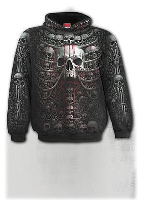 DEATH RIBS - Allover Hoody Black
