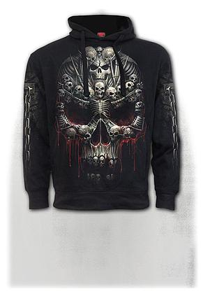 DEATH BONES - Side Pocket Hoody Black
