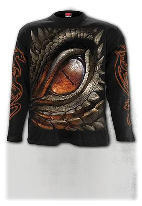 DRAGON EYE - Longsleeve T-Shirt Black