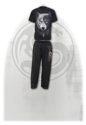 WOLF CHI - 4pc Mens Gothic Pyjama Set