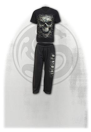 CAMO-SKULL - 4pc Mens Gothic Pyjama Set