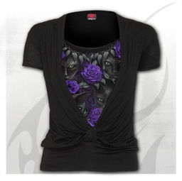 THE WATCHERS - Allover 2in1 Gathered Knot Short Sleeve