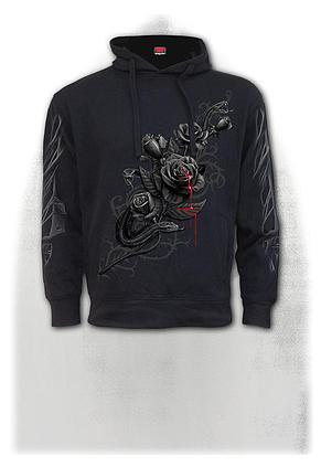 FATAL ATTRACTION - Side Pocket Stitched Hoody Black