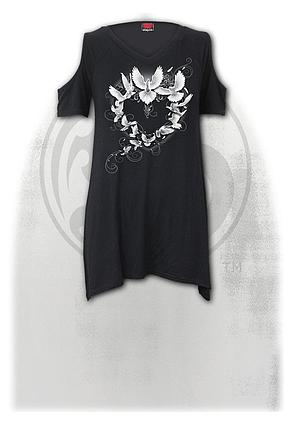 DOVES HEART - Cold Shoulder Goth Bottom Top