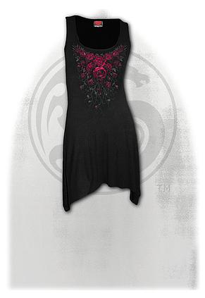 BLOOD ROSE - Goth Bottom Camisole Dress Black