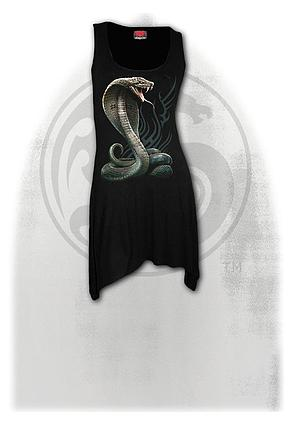 SERPENT TATTOO - Goth Bottom Camisole Dress Black
