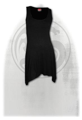 GOTHIC ELEGANCE - Goth Bottom Camisole Dress Black