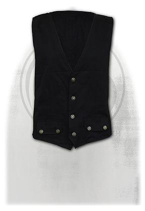 GOTHIC ROCK - Gothic Waistcoat Four Button with Lining