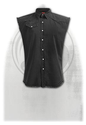 METAL STREETWEAR - Sleeveless Stone Washed Worker Black