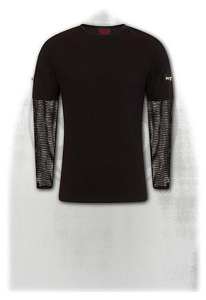 METAL STREETWEAR - Mesh Sleeve Zip Shoulder Long Sleeve Mens