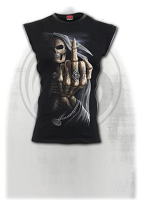 BONE FINGER - Zip Side Ribbed Gothic Sleeveless