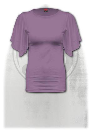 GOTHIC ELEGANCE - Boat Neck Bat Sleeve Top Purple