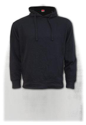 METAL STREETWEAR - Side Pocket Stitched Hoody Black