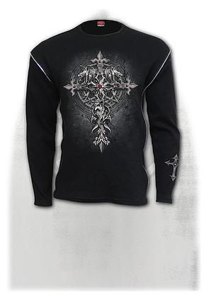 CUSTODIAN - Zip Side Ribbed Gothic Longsleeve