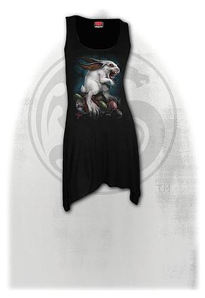 RABBIT HOLE - Goth Bottom Camisole Dress Black