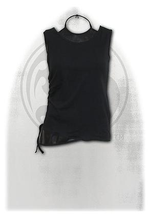 GOTHIC ROCK - 2in1 PU Leather Vest