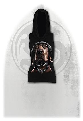 DAWG - Sleeveless Gothic Hood Black
