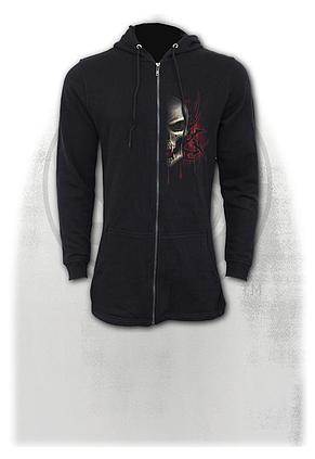 GAME OVER - Mens Fish Tail Zipper Hoody - Zip Sleeves