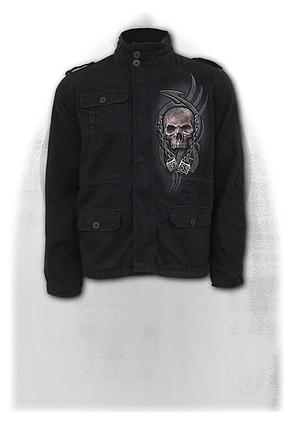 BOSS REAPER - Military Lined Jacket with Hidden Hood