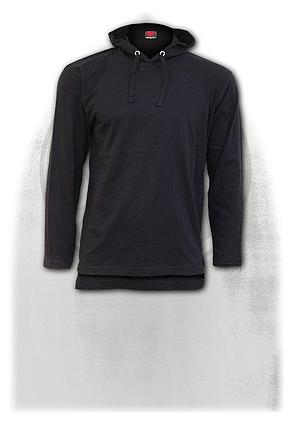 URBAN FASHION - Fine Cotton Summer Hoody Black