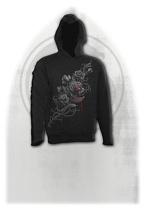 FATAL ATTRACTION - Gothic Black Strap Hoody Black