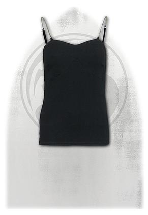 GOTHIC ROCK - Adjustable Chain Camisole Top Black