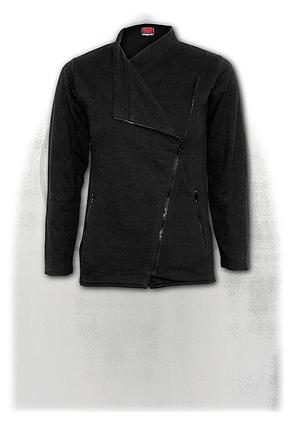 METAL STREETWEAR - Slant Zip Women Biker Jacket Black