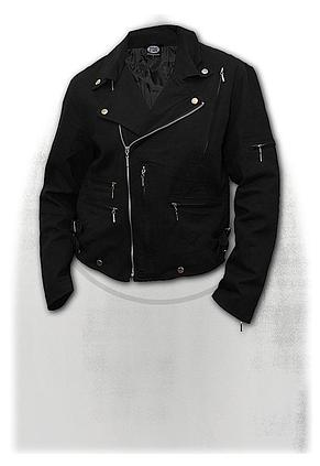 METAL STREETWEAR - Lined Biker Jacket Black