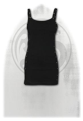 GOTHIC ROCK - Laceup Camisole Dress Black